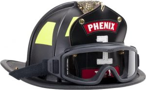Firefighter Helmet and Googles